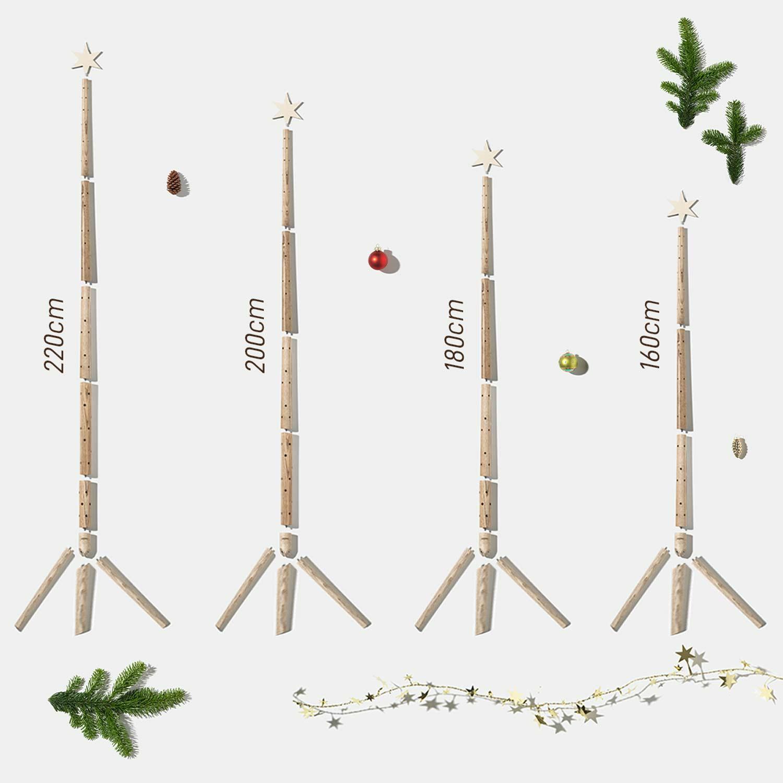 Weihnachtsbaum in verschiednen Größen